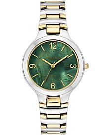 Women's Solar Two-Tone Bracelet Watch 32.5mm