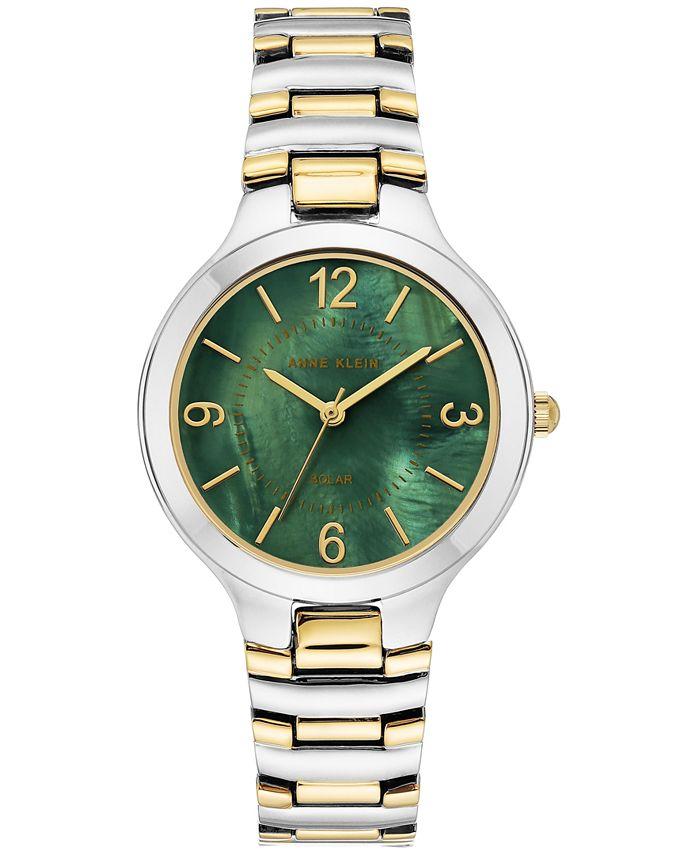 Anne Klein - Women's Solar Two-Tone Bracelet Watch 32.5mm