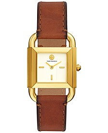 Women's Phipps Brown Leather Strap Watch 24mm
