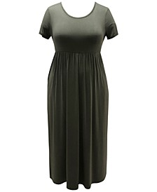Petite Seamed-Waist Maxi Dress, Created for Macy's