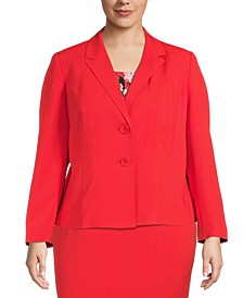 Plus Two-Button Blazer