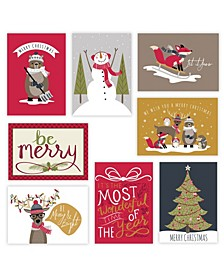 Whimsical Holiday 24 Cards Assortment and 24 Envelopes
