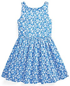 Big Girl Floral Cotton Poplin Dress
