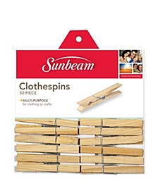 50 Piece Wooden Clothespin