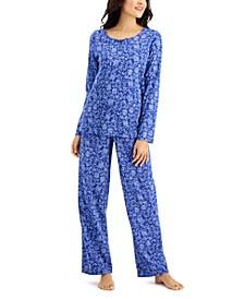 Printed Cotton Pajama Set, Created for Macy's