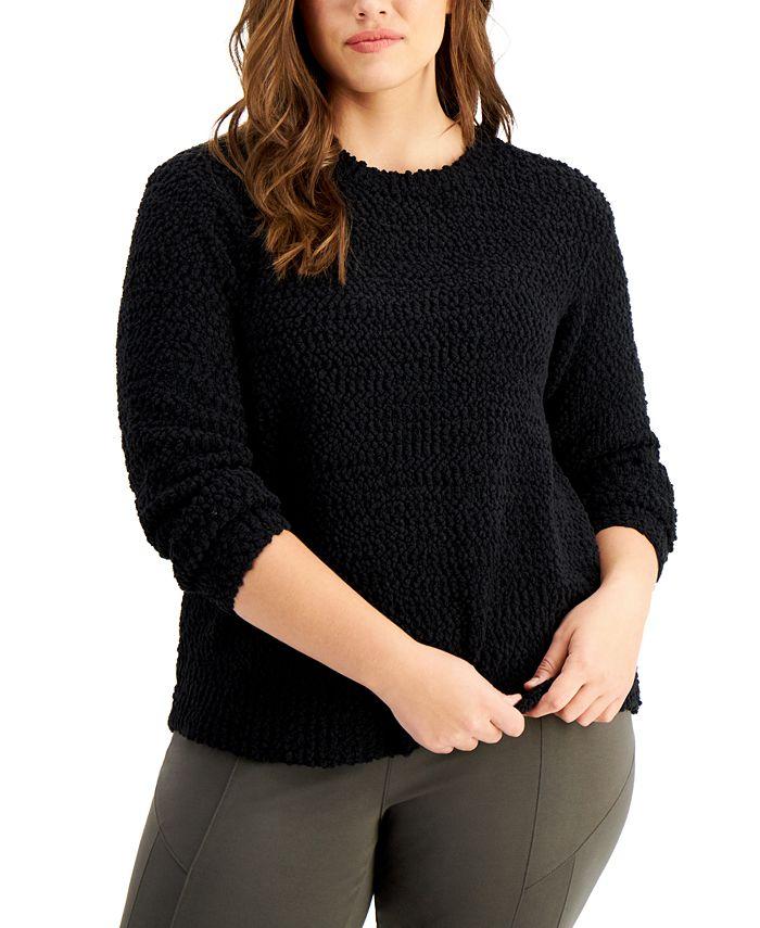 Style & Co - Plus Size Teddy Bouclé Sweater