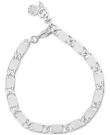 Silver-Tone Chain Link Bracelet
