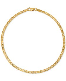 Mariner Link Ankle Bracelet in 18k Gold-Plated Sterling Silver, Created for Macy's
