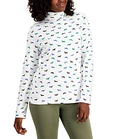 Printed Turtleneck Top, Created for Macy's