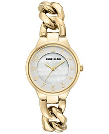 Women's Gold-Tone Chain Bracelet Watch 32mm