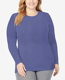 Plus Size Softwear Long-Sleeve Crewneck Top
