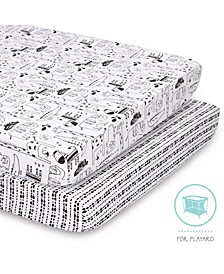 2 Pack Playard Sheets, Animals and Tribal