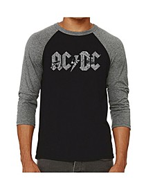 Men's Raglan AC/DC Word Art T-shirt