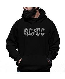 Men's  AC/DC Word Art Hooded Sweatshirt