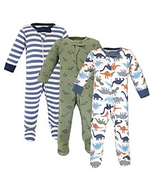 Baby Boys and Girls Dinosaurs Sleep and Play Set, Pack of 3