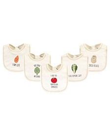 Boys and Girls Tomatoes Bibs, Pack of 5