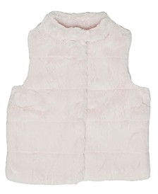 Little Girls Cut Coney Faux Fur Vest