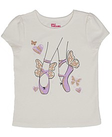 Toddler Girls Short Sleeve Ballet Graphic Mix and Match Tee