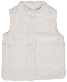 Big Girls Cut Cony Plush Vest