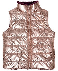 Big Girls Shiny Reversible Vest