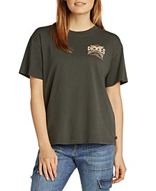 Juniors' Logo Boyfriend T-Shirt
