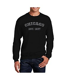 Men's Word Art Chicago 1837 Crewneck Sweatshirt