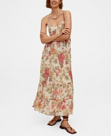 Women's Floral Print Long Dress