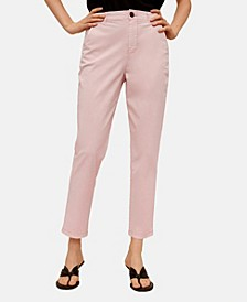 Women's Leather Belt Pants