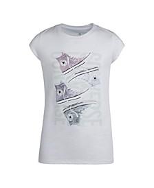 Big Girls Chuck Sneakers Logo Graphic T-Shirt