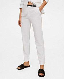 Women's Belt Suit Pants