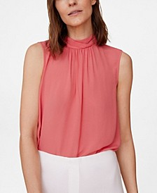 Women's Bow Striped Top