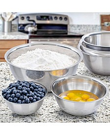 Stainless Steel 6-Pc. Mixing Bowls