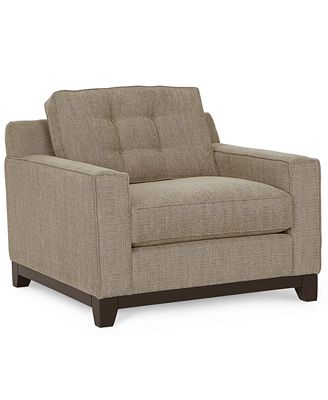 clarke fabric living room chair, created for macy's - furniture