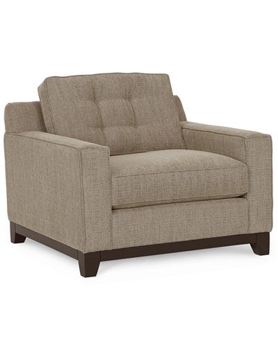 Clarke Fabric Living Room Chair - Clarke Fabric Living Room Chair - Furniture - Macy's