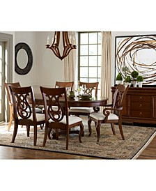 Closeout! Bordeaux Pedestal Round Dining Room Collection, Created for Macy's