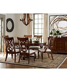 Bordeaux Pedestal Round Dining Room Furniture Collection Created For Macys