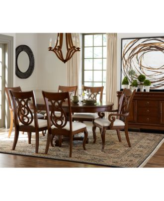 bordeaux pedestal round dining room furniture collection, created