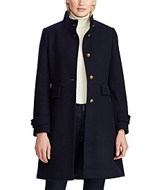 Single-Breasted Wool Walker Coat