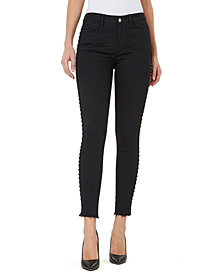 Numero Mid-Rise Studded Skinny Ankle Jeans