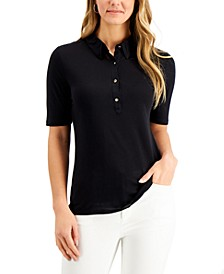 Elbow-Sleeve Polo, Created for Macy's