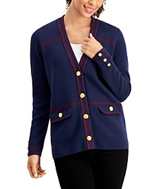 Petite Milano Stitched-Detail Cardigan, Created for Macy's