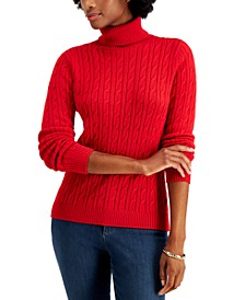 Cable-Knit Turtleneck Sweater, Created for Macy's