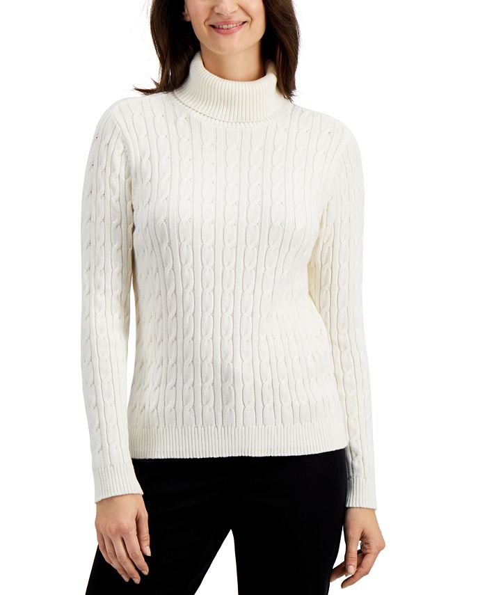 Charter Club - Cable-Knit Sweater, Created for Macy's