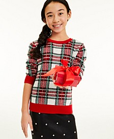 Big Girls Plaid Sweater, Created for Macy's