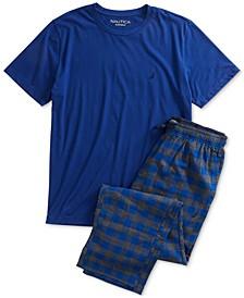 Men's T-Shirt and Flannel Pants Pajama Set