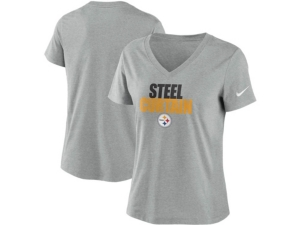 Nike Pittsburgh Steelers Women's Local Tri-Blend V-neck T-Shirt