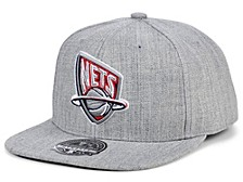 New Jersey Nets Hardwood Classic Team Heather Fitted Cap