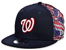 Washington Nationals Flag Mesh Back 9FIFTY Cap