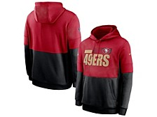 Nike Men's San Francisco 49ers Sideline Team Lockup Therma Hoodie