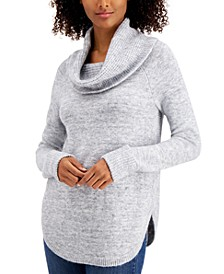 Petite Waffle Cowlneck Sweater, Created for Macy's